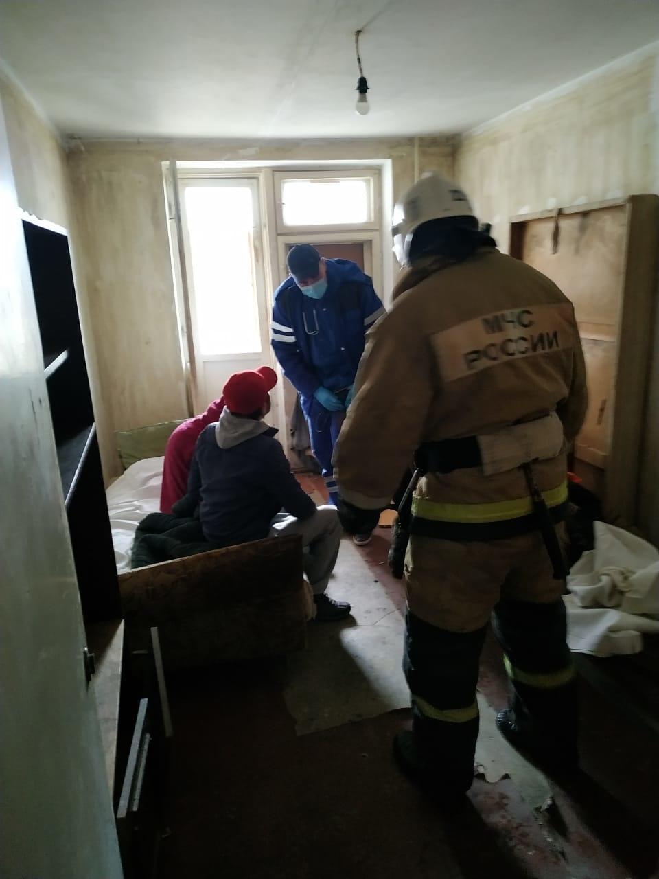 На пожаре в г.Евпатория спасен человек